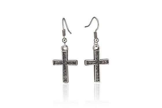 Fulfilled Cross Earring-Christian Earrings-Halle Joy-SonGear