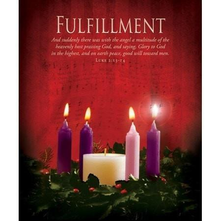 Fulfillment (Luke 2:13) Large Advent Bulletins, 100-Christian Church Supplies-SonGear Marketplace-SonGear