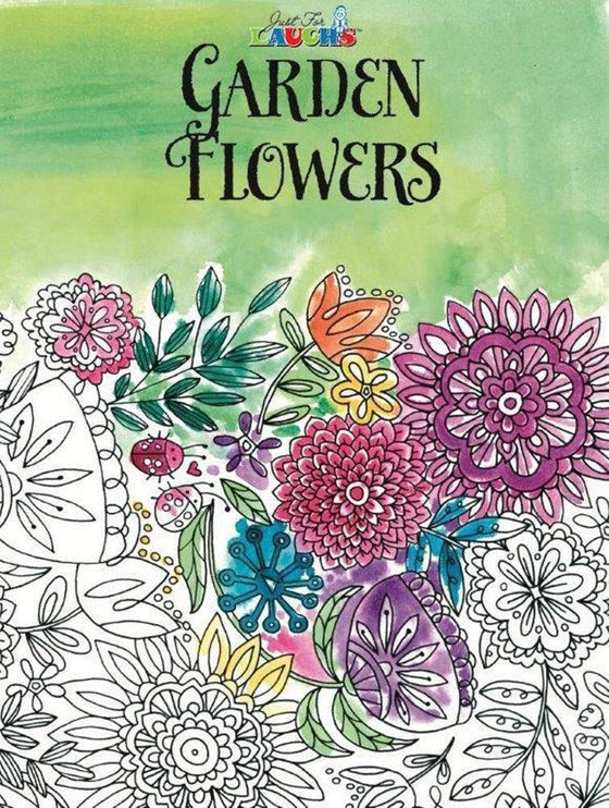 'Garden Flowers' Adult Coloring Book-Christian Drawing & Painting-SonGear Marketplace-SonGear