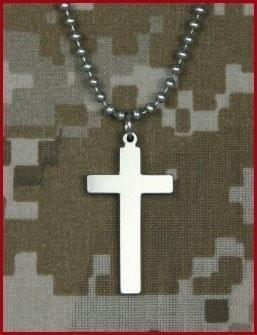 Genuine U. S. Military Issue Long Cross-Christian Necklaces-GI Jewelry-SonGear