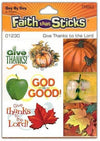Give Thanks To The Lord (6 Sheets) (Faith That Sticks)-Christian Decorative Stickers-SonGear Marketplace-SonGear