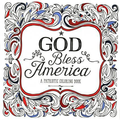 God Bless America: A Patriotic Adult Coloring Book-Christian Books-SonGear Marketplace-SonGear