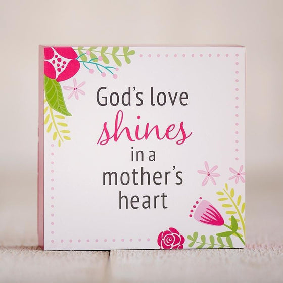 God's Love Shines In A Mother's Heart - Inspirational Plaque-Christian Home Decor-SonGear Marketplace-SonGear
