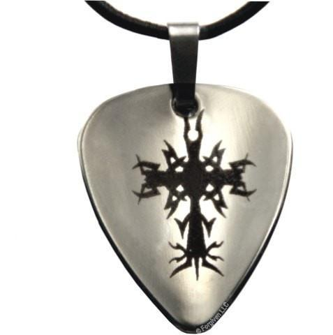 Guitar Pick Cross Necklace-Christian Necklaces-SonGear Marketplace-SonGear