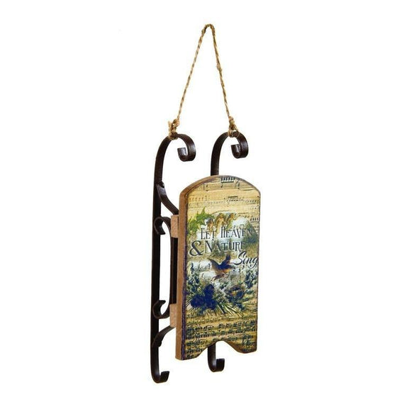 Heaven And Nature Sing Sled Ornament-Christian Holiday Ornaments-SonGear Marketplace-SonGear
