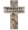 'His Eye Is On The Sparrow' Wall Cross-Christian Home Decor-SonGear Marketplace-SonGear