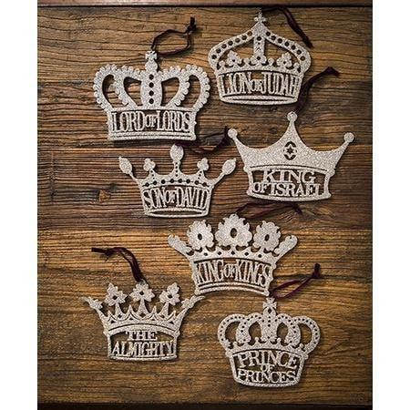 His Royal Names Ornaments (Set of 7)-Christian Holiday Ornaments-SonGear Marketplace-SonGear