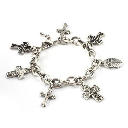 Hope Cross Charm Bracelet-Christian Bracelets-Halle Joy-SonGear
