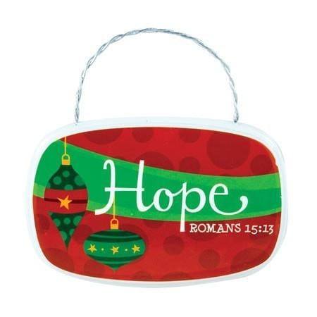 Hope Plaque Ornament-Christian Holiday Ornaments-SonGear Marketplace-SonGear