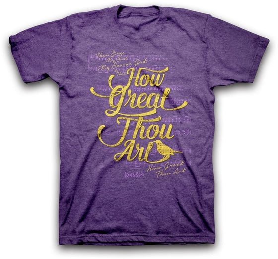 How Great Thou Art Christian T-Shirt-Christian T-Shirts-Kerusso-APT2034SM-SonGear