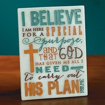 """I Believe"" Plaque-Christian Plaques-SonGear Marketplace-SonGear"