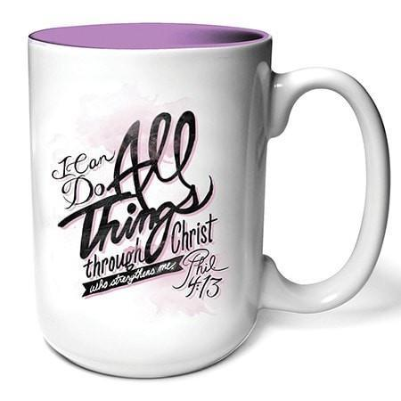 I Can Do All Things Through Christ Mug-Christian Coffee Mugs-SonGear Marketplace-SonGear