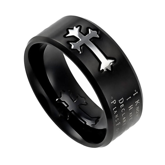 'I Know' - Men's Black Neo Ring-Christian Rings-Spirit and Truth-SGN3590703894-SGN3590703894-SonGear