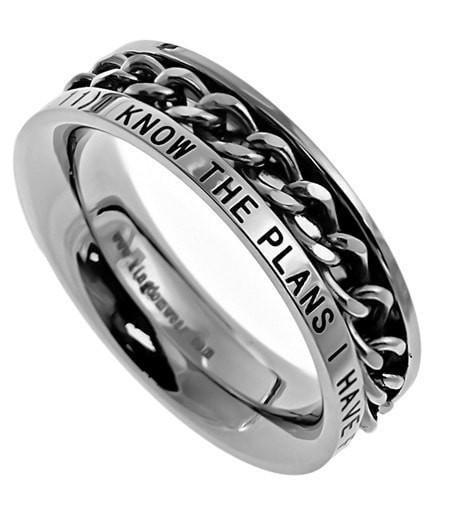 'I Know' - Women's Chain Ring-Christian Rings-Spirit and Truth-SGN852071639-SonGear