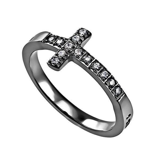 'I Know' - Women's Sideway Cross Ring-Christian Rings-Spirit and Truth-SGN753417269-SonGear
