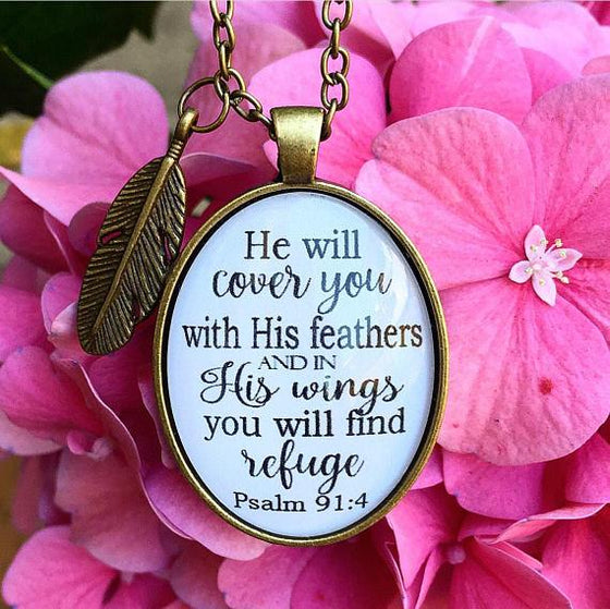 Psalm 91:4 Necklace