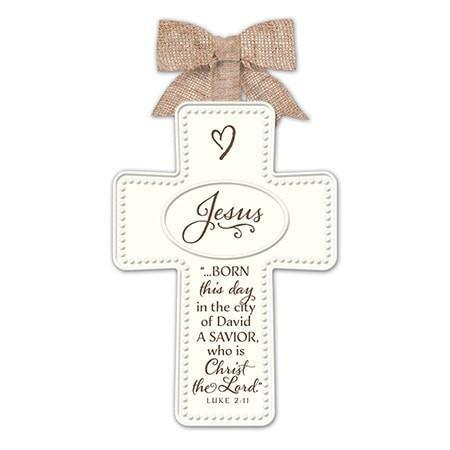 Jesus - Ceramic Cross Ornament-Christian Holiday Ornaments-SonGear Marketplace-SonGear