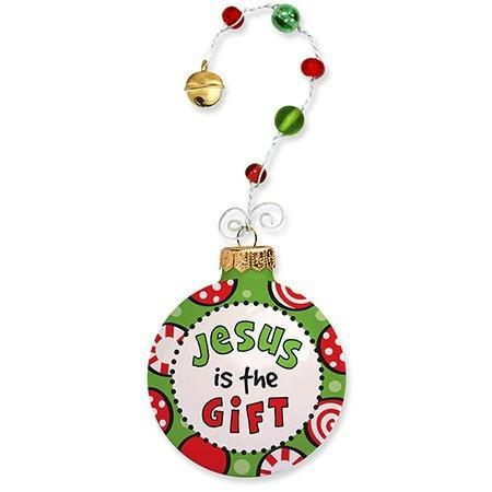 Jesus Is The Gift Snow Ornament-Christian Holiday Ornaments-SonGear Marketplace-SonGear
