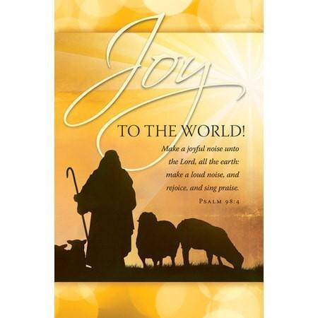 Joy to the World! (Psalm 98:4) Bulletins, 100-Christian Church Supplies-SonGear Marketplace-SonGear