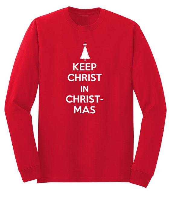 Keep Christ in Christmas Men's Long Sleeve