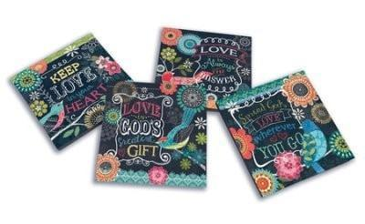 Keep Love In Your Heart Coasters, Set of 4-Christian Gifts-SonGear Marketplace-SonGear