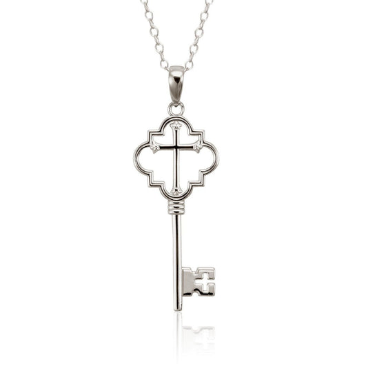 Keys of Heaven Sterling Silver Necklace-Christian Necklaces-Halle Joy-SonGear