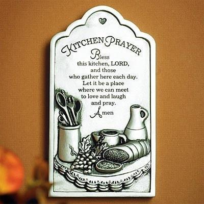 Kitchen Prayer, Plaque-Christian Plaques-SonGear Marketplace-SonGear