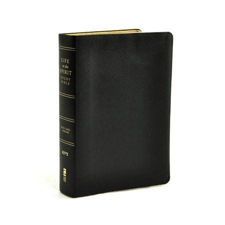 KJV Life in the Spirit Study Bible, Top Grain Leather, Black (Previously titled The Full Life Study Bible)-Christian Bibles-SonGear Marketplace-SonGear
