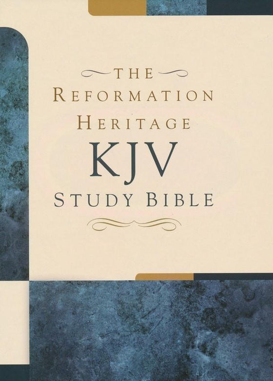 KJV Reformation Heritage Study Bible, Cowhide Leather, Black-Christian Bibles-SonGear Marketplace-SonGear