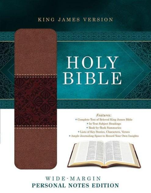 KJV Wide Margin Personal Notes Bible-Tan/Brown DiCarta-Christian Bibles-SonGear Marketplace-SonGear