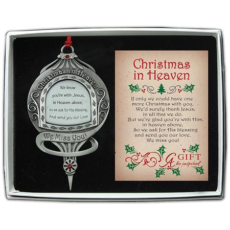 We Know You're With Jesus, Memorial Ornament