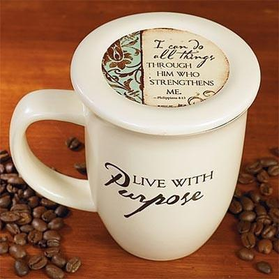 Live with Purpose Mug and Coaster-Christian Coffee Mugs-SonGear Marketplace-SonGear