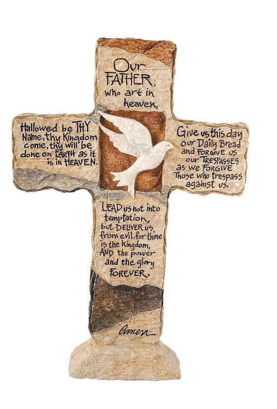 Lord's Prayer Standing Cross-Christian Home Decor-SonGear Marketplace-SonGear