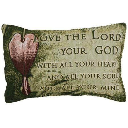 Love the Lord Your God Pillow-Christian Throw Pillows-SonGear Marketplace-SonGear
