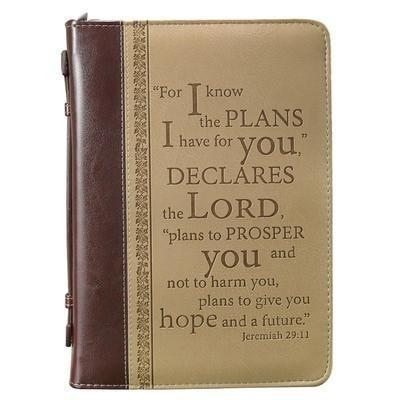LuxLeather I Know the Plans Bible Cover, Large-Christian Bibles-SonGear Marketplace-SonGear