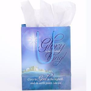 Gift Bag-Glory To The Newborn King! (7 x 9 x 4) (J