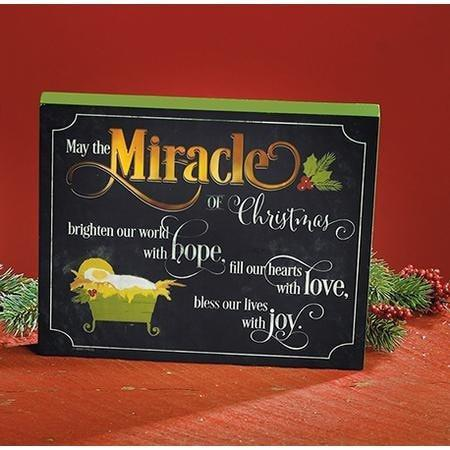 May the Miracle of Christmas Brighten Our World LED Plaque-Christian Seasonal & Holiday Decorations-SonGear Marketplace-SonGear