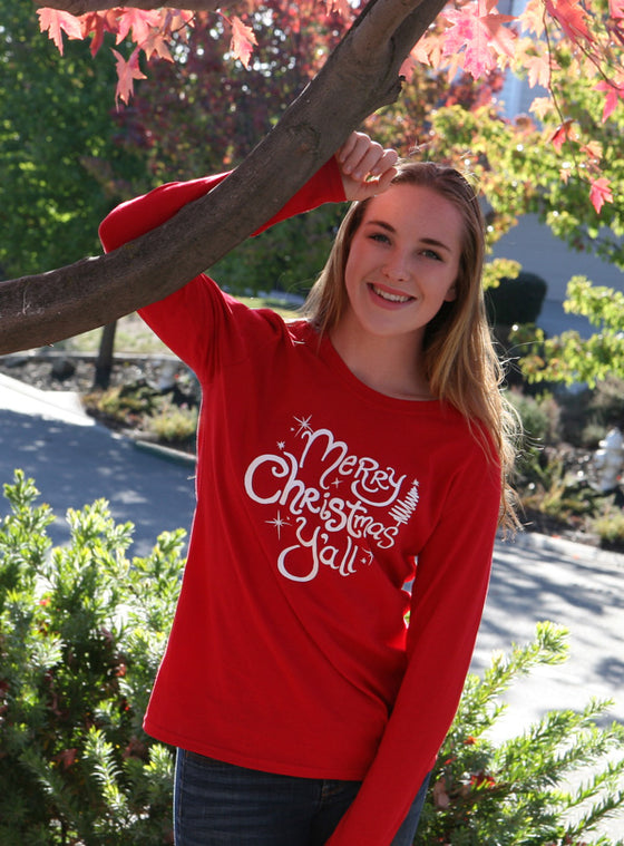 Merry Christmas Y'all Women's Long Sleeve