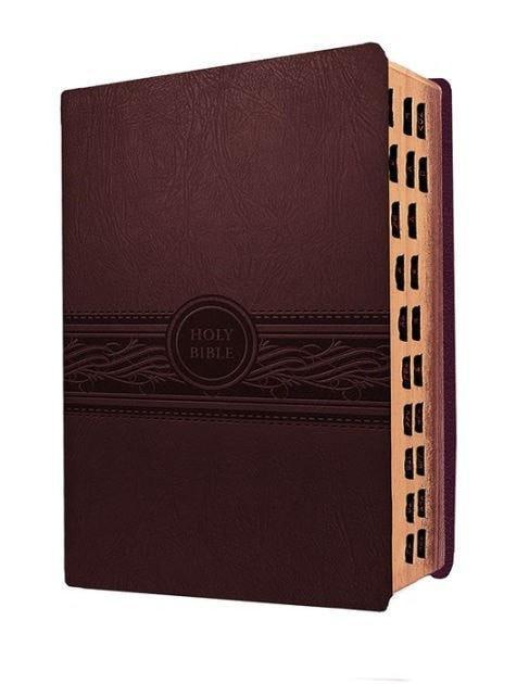 MEV Personal Size Large Print Indexed (Cherry Brown): Modern English Version (MEV), Leather, imitation-Christian Bibles-SonGear Marketplace-SonGear