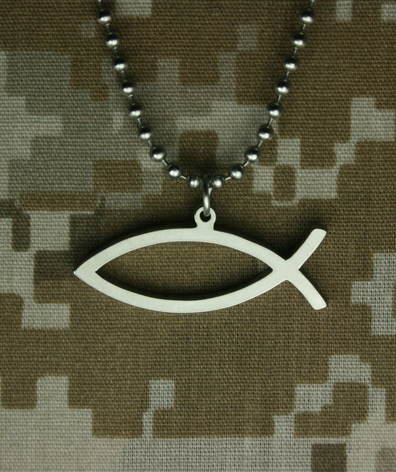 Military Issue Ichthys-Christian Necklaces-GI Jewelry-SonGear