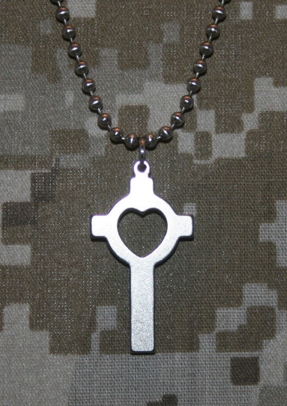 Military Issue Lutheran Cross-Christian Necklaces-GI Jewelry-SonGear