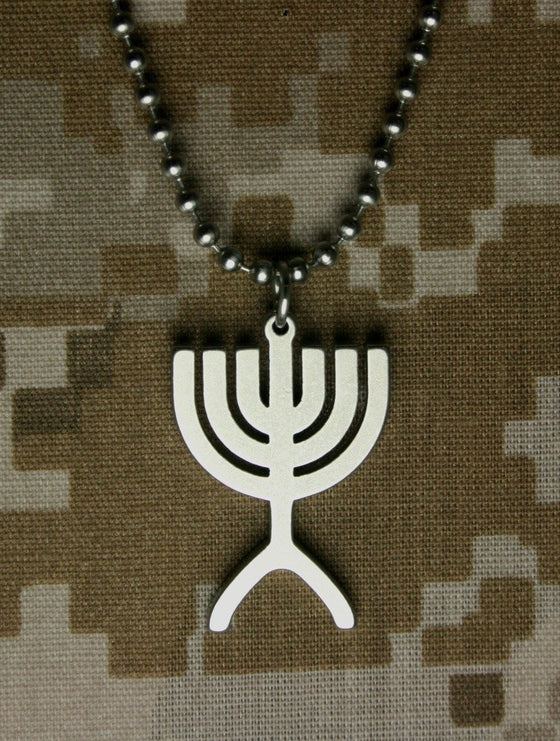 Military Issue Menorah-Christian Necklaces-GI Jewelry-SonGear