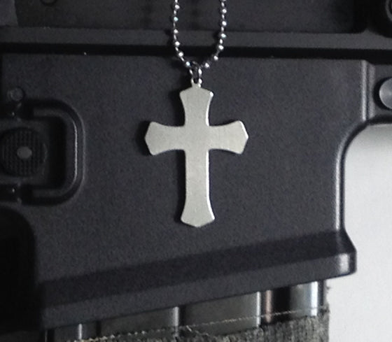 Military Issue Warrior Cross-Christian Necklaces-GI Jewelry-SonGear
