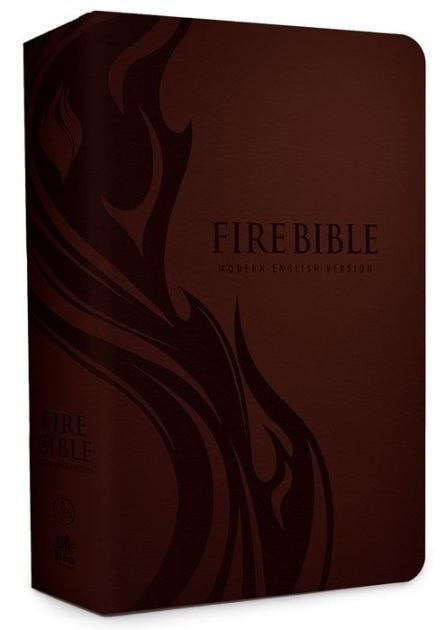 Modern English Version (MEV) Fire Bible-imitation leather, brown-Christian Bibles-SonGear Marketplace-SonGear