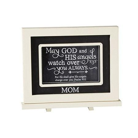 Mom, May God and His Angels Watch Over You, Chalkboard Plaque-Christian Home Decor-SonGear Marketplace-SonGear