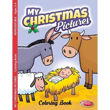 My Christmas Pictures Coloring Book Ages 2 4 Christian Books SonGear