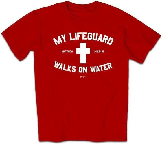 My Lifeguard Walks On Water Shirt - Red-Christian T-Shirts-Kerusso-APTALIFSM-SonGear