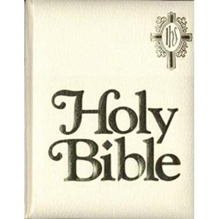 NAB Catholic Family Bible, Imitation Leather White-Christian Bibles-SonGear Marketplace-SonGear