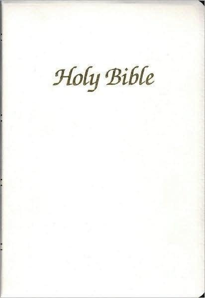 NAB First Communion Bible, Imitation leather, White-Christian Bibles-SonGear Marketplace-SonGear