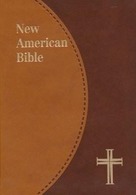 NAB New American Bible Personal Size, St Joseph Ed., Duotone Brown-Christian Bibles-SonGear Marketplace-SonGear